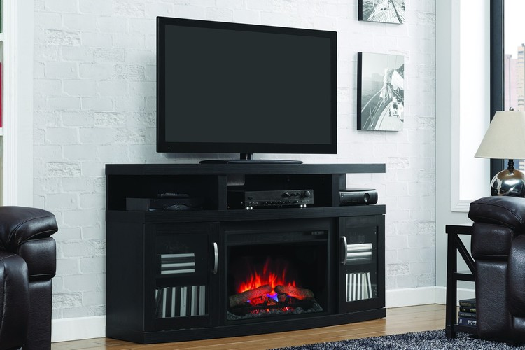 ClassicFlame Cantilever donker eiken